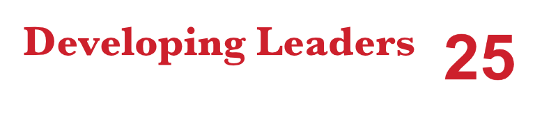 Developing leaders for over 25years